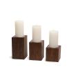 Candleholder LUNA Dark Plain