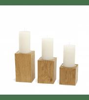 Candleholder LUNA Light Plain