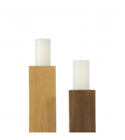 Cylinder candle RUSTIC Decorated