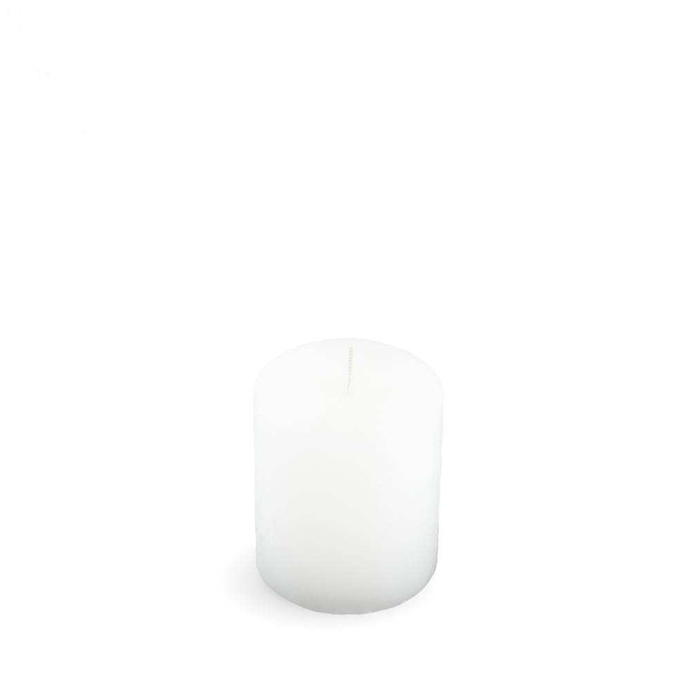Cylinder candle RUSTIC Plain