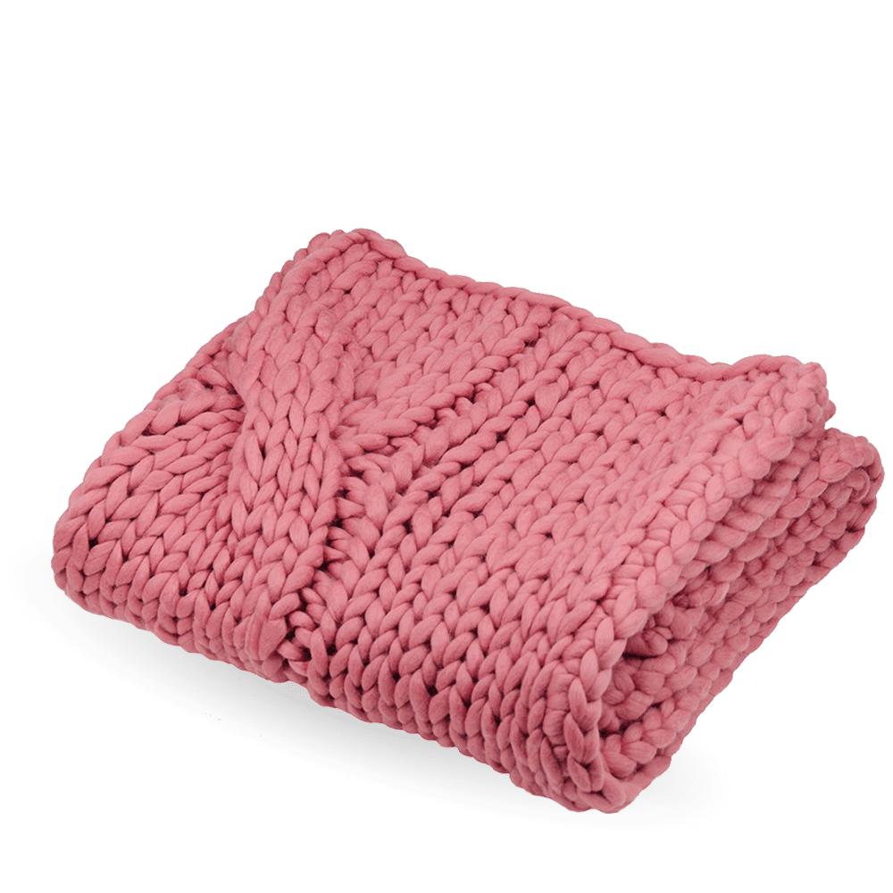 Knitted blanket FLUF braid