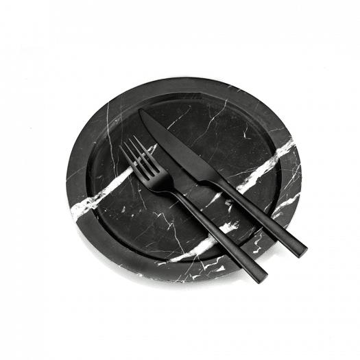 Plates BATLER | marble- nero