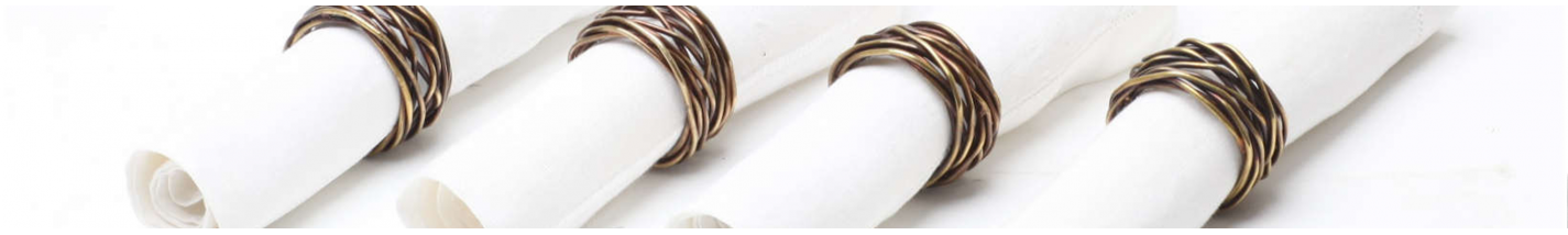 NAPKIN RINGS | For a stylish table decoration | uccellino